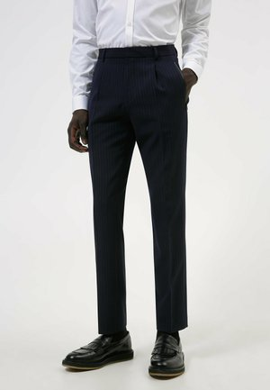 HESTEN - Pantaloni eleganti - dark blue