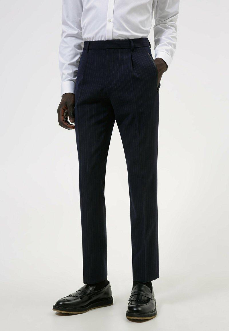 HUGO - HESTEN - Suit trousers - dark blue