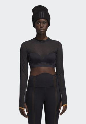 IVP LS MSH CROP - Long sleeved top - black