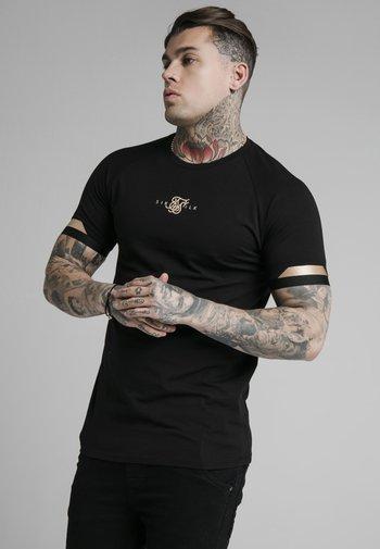 DUAL CUFF TECH TEE - T-shirt print - black/gold