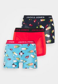 Jack & Jones - JACICESTICK TRUNKS 3 PACK - Pants - bonnie blue/navy blazer/firey red - 4