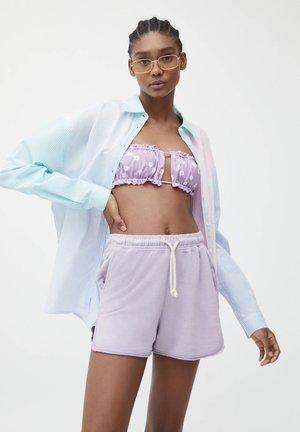 Shorts - mottled dark purple