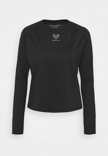 MEDLEY FITNESS - Langarmshirt - black