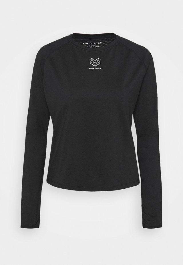 MEDLEY FITNESS - Pitkähihainen paita - black