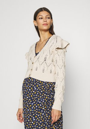 MLDAISY CROPPED - Cardigan - parchment