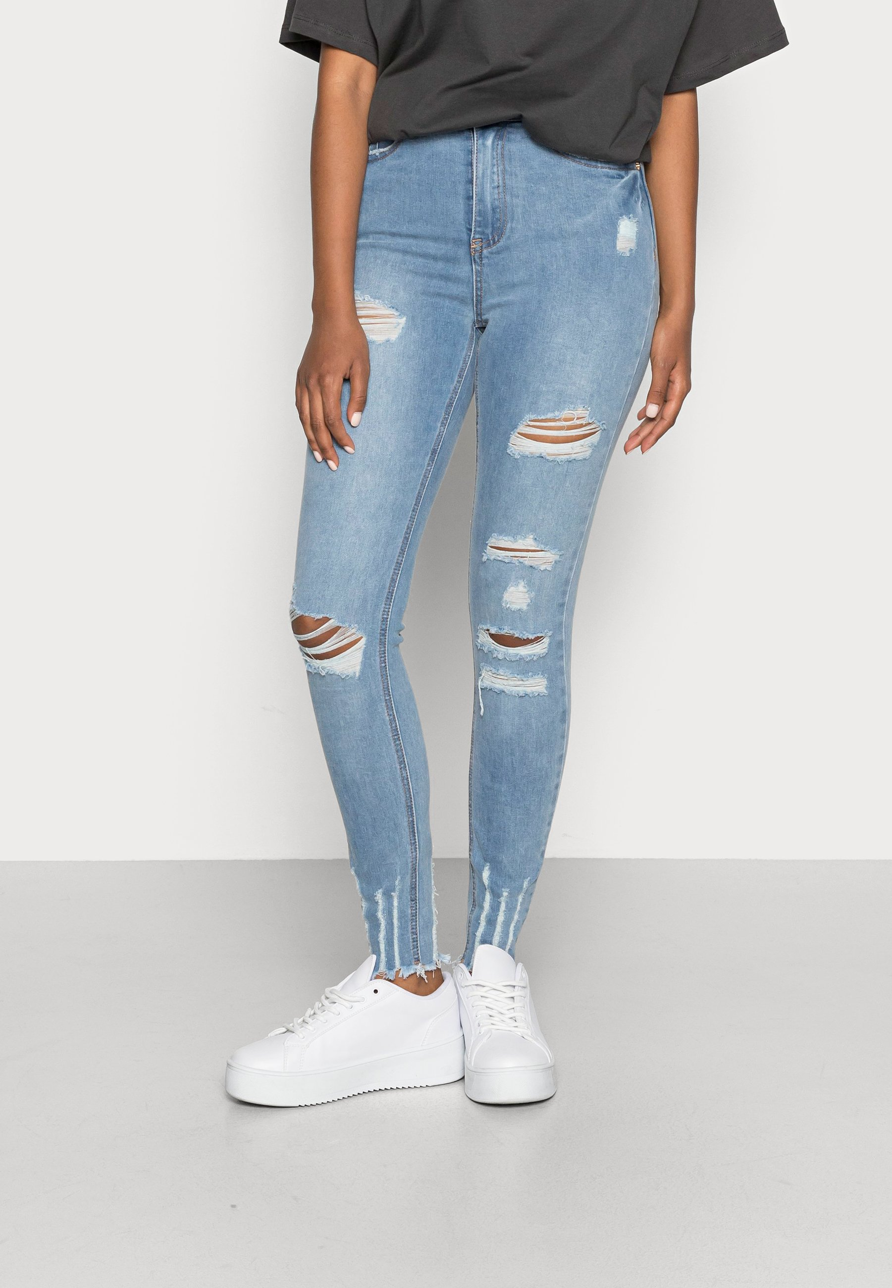 Women SINNER HIGH WAIST AUTHENTIC RIPPED - Jeans Skinny Fit