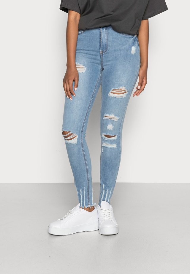 SINNER HIGH WAIST AUTHENTIC RIPPED - Jeans Skinny Fit - blue