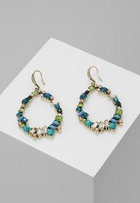sweet deluxe - Earrings - antikgold-coloured/blau/peach - 0