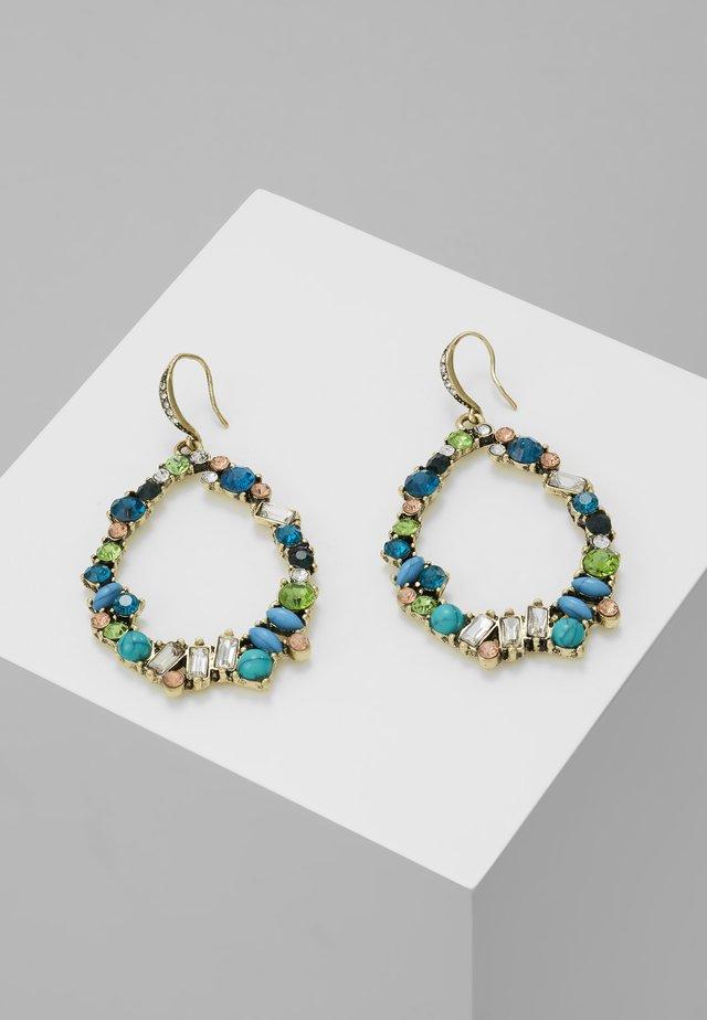 Boucles d'oreilles - antikgold-coloured/blau/peach