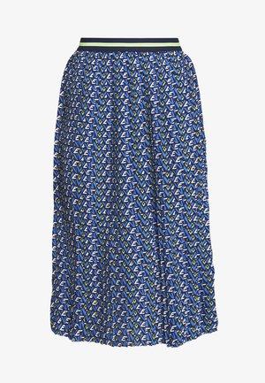 PLISSEE SKIRT WITH PRINT - Áčková sukně - deep indigo