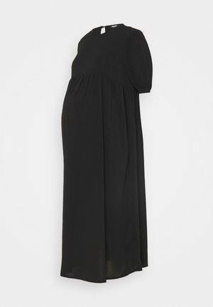 MATERNITY PUFF MIDI SMOCK DRESS - Sukienka letnia - black