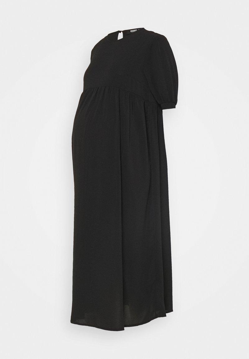 Missguided Maternity - MATERNITY PUFF MIDI SMOCK DRESS - Denní šaty - black
