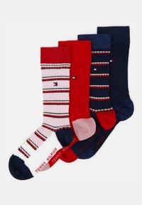 Tommy Hilfiger - KIDS SOCK GIRLS STRIPE 4 PACK - Ponožky - navy - 0