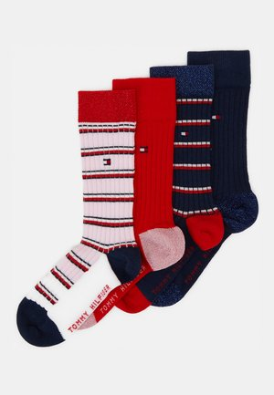 KIDS SOCK GIRLS STRIPE 4 PACK - Ponožky - navy