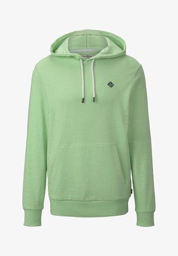 MIT LOGO-PRINT - Hoodie - soft neo green