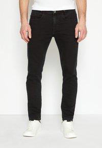 TOM TAILOR - TROY - Slim fit -farkut - black denim - 0