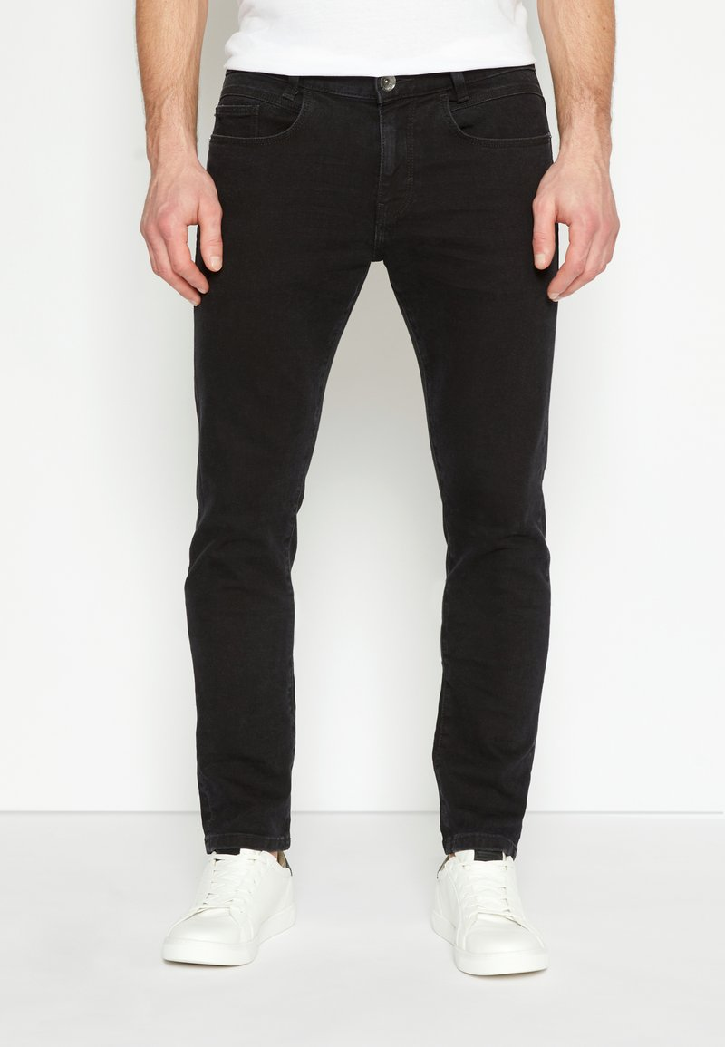 TOM TAILOR - TROY - Slim fit jeans - black denim