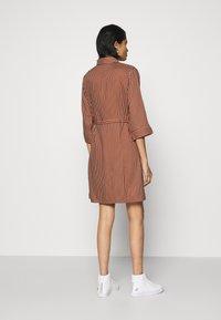 ONLY - ONLTAMARI DRESS - Shirt dress - tortoise shell/cloud dancer - 2