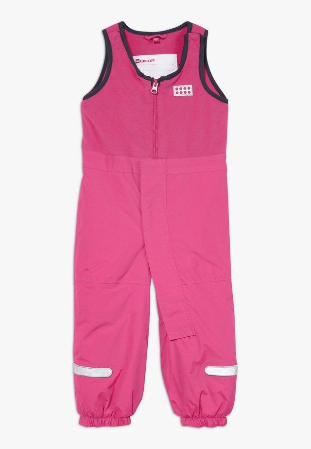LWPUELO 701 SKI PANTS - Mono para la nieve - dark pink