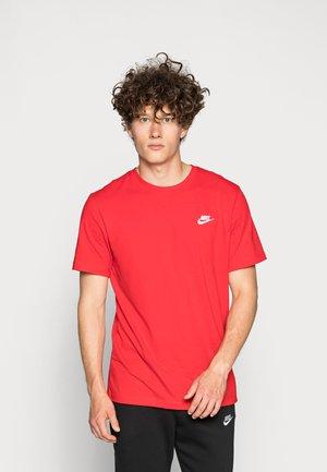 CLUB TEE - Jednoduché triko - university red/white