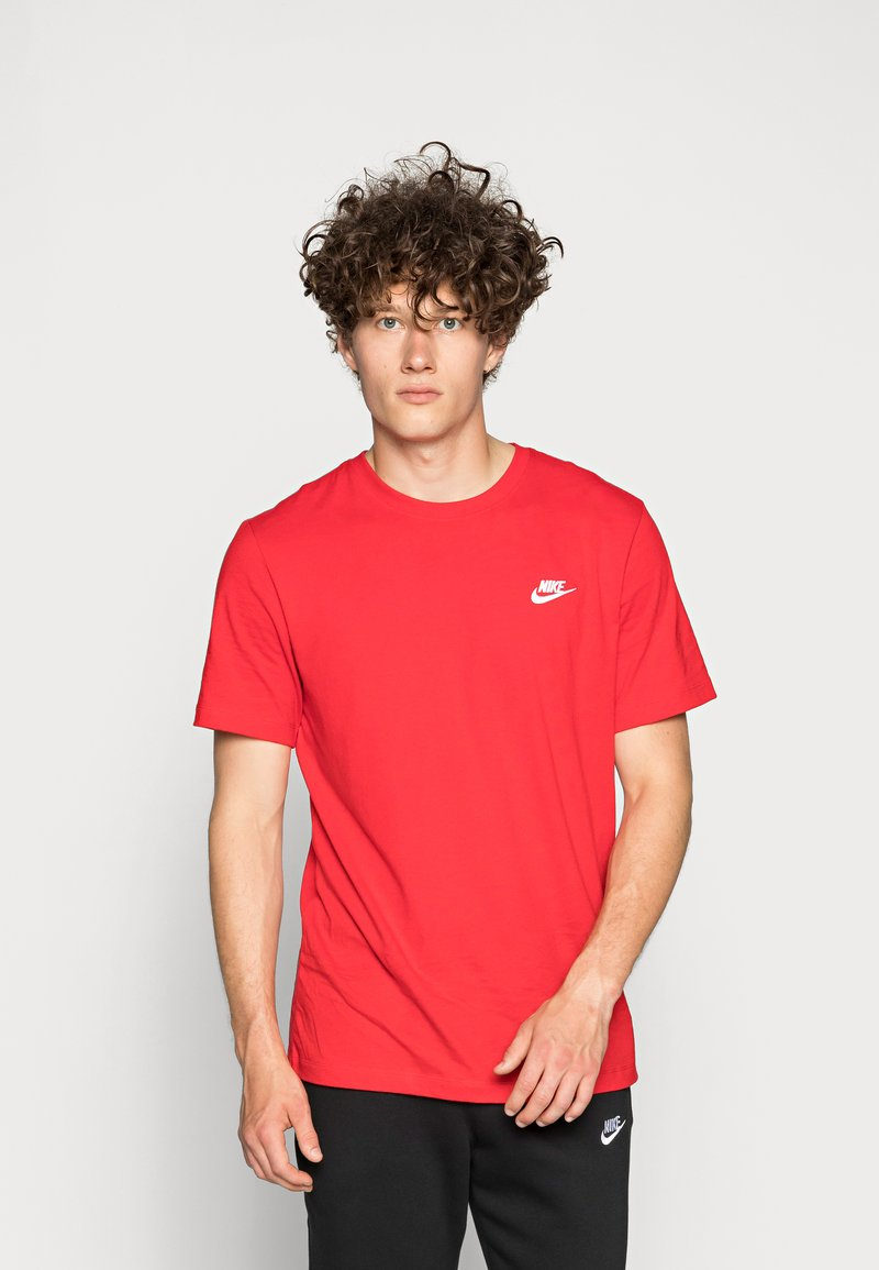 Nike Sportswear - CLUB TEE - T-paita - university red/white