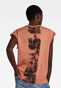 G-Star - GSRAW KNOT CAP SLEEVE - Basic T-shirt - light paste - 0