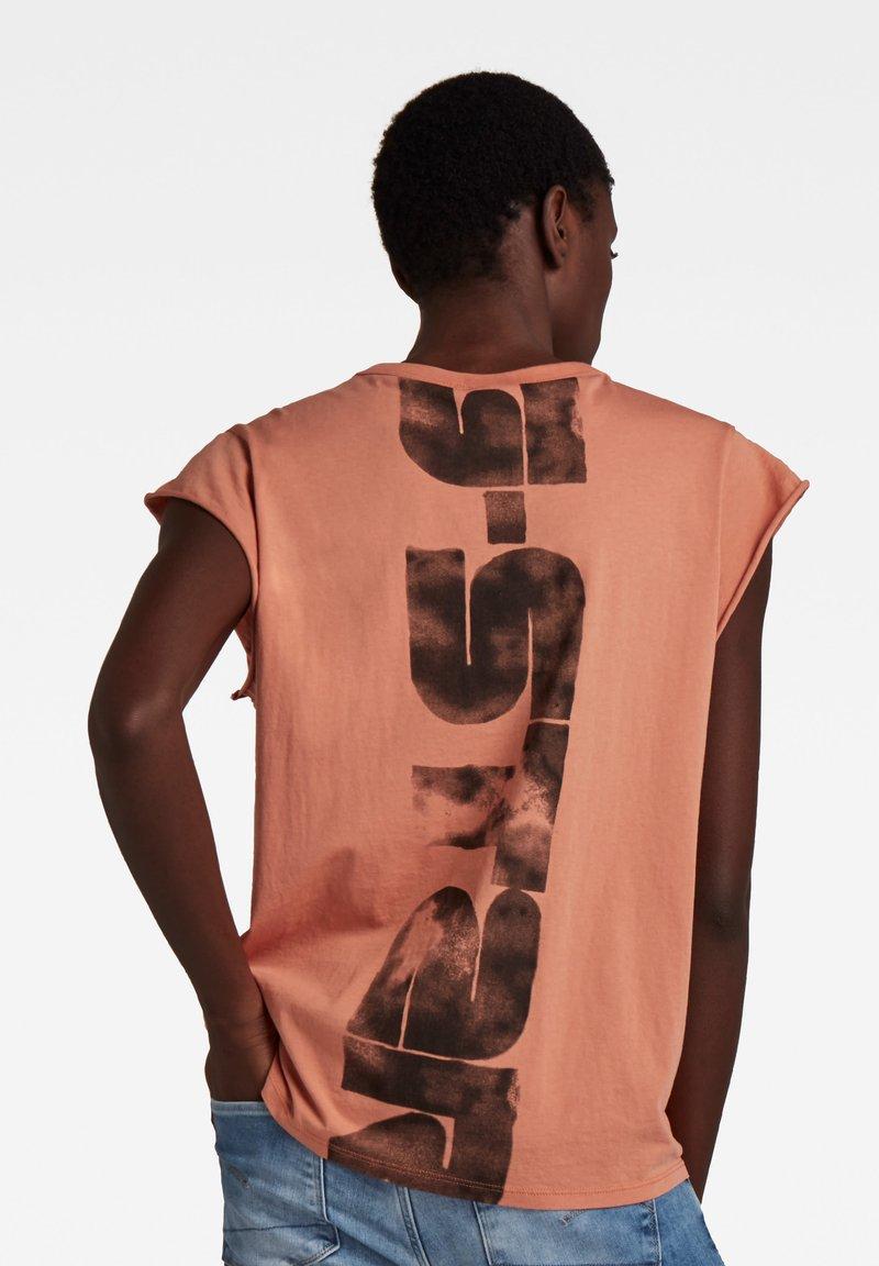 G-Star - GSRAW KNOT CAP SLEEVE - Basic T-shirt - light paste