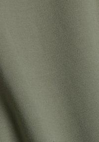 Esprit - MIT HOHEM KRAGEN - Zip-up sweatshirt - light khaki - 8