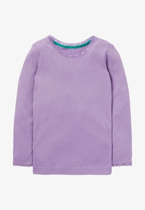 SUPERWEICHES POINTELLE - Long sleeved top - purple