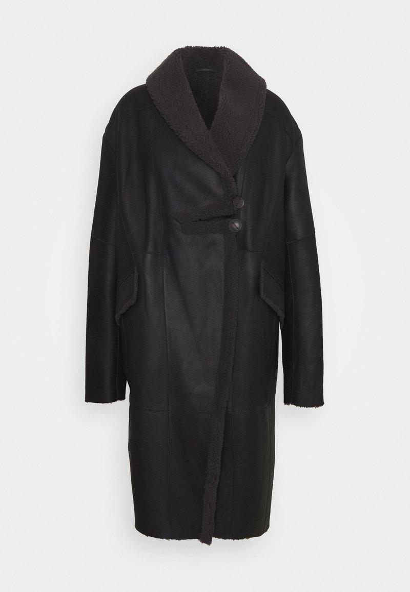 VSP - CURLY FLORANCE - Płaszcz zimowy - black/antracite