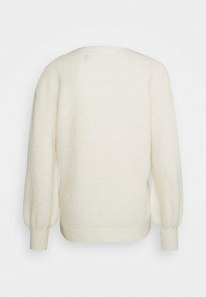 HEIDI VNECK BALLOON - Pullover - crème