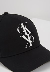 Calvin Klein Jeans - J MIRROR CK CAP WITH FLOCKING - Casquette - black - 6