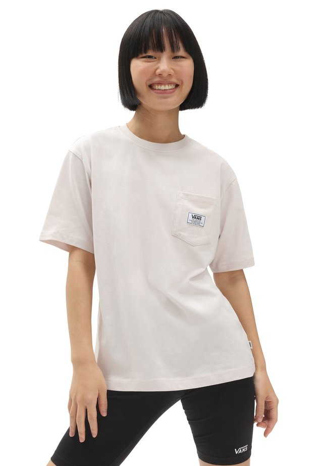 WM CLASSIC PATCH POCKET - Print T-shirt - hushed violet