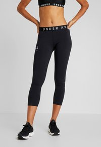 Under Armour - FAVORITE CROP GRAPHIC - Legginsy - black/onyx white - 0