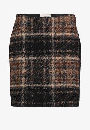 Mini skirt - schwarz/beige