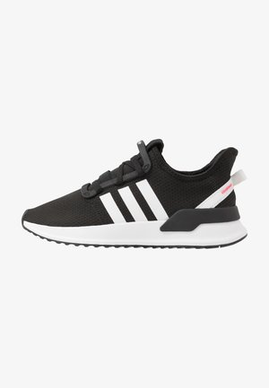 U_PATH RUN - Sneakers laag - core black/footwear white/shock red