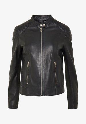 MOLLISON JACKET - Kožená bunda - black
