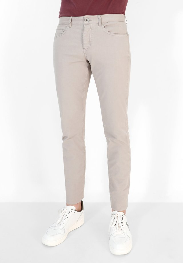 Jeans slim fit - taupe