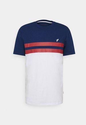 T-shirt med print - blue/red