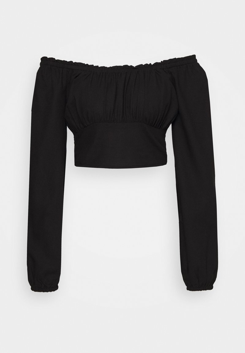 Cotton On - ROMANTIC LONG SLEEVE BLOUSE - Bluser - black