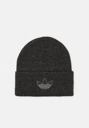 OUTLINE CUFF UNISEX - Beanie - black