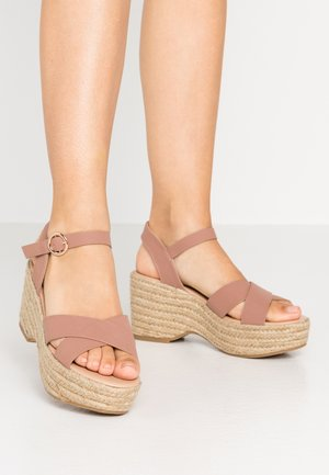 RUMBA MID HEIGHT EASY FLATFORM  - High heeled sandals - pink