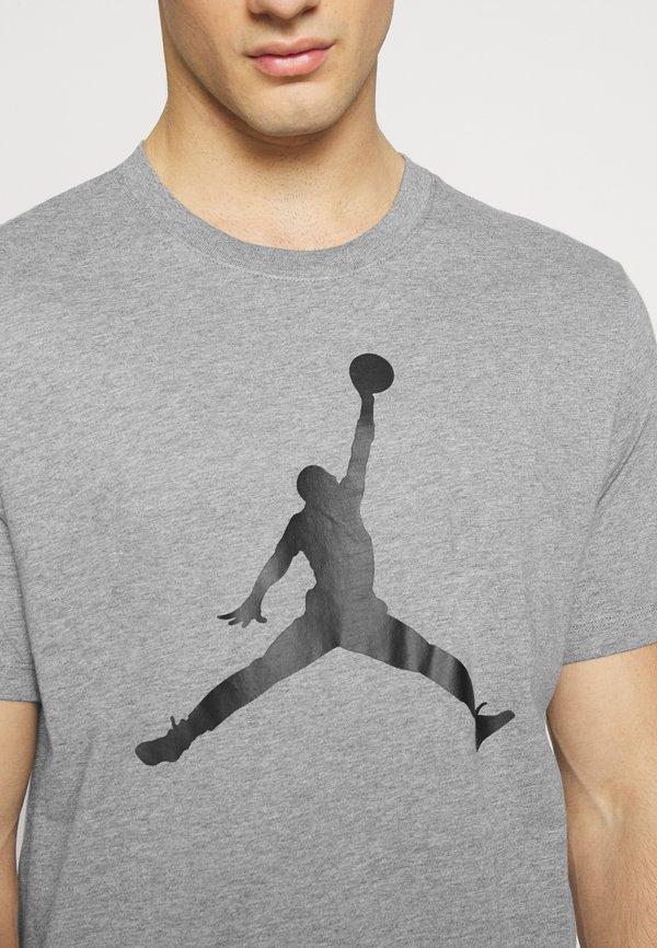Jordan JUMPMAN CREW - T-shirt z nadrukiem - carbon heather/black/antracytowy Odzież Męska HEGS