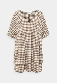 Weekday - HEDVIG DRESS - Day dress - brown check - 0