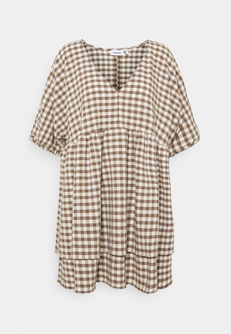 Weekday - HEDVIG DRESS - Day dress - brown check
