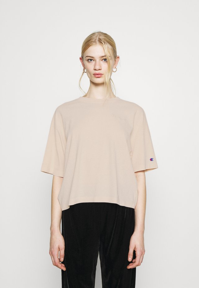 CREWNECK CROPTOP - T-shirt basic - beige
