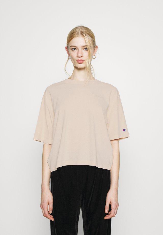 CREWNECK CROPTOP - Basic T-shirt - beige