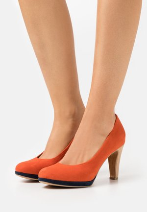 COURT SHOE - High heels - terracotta