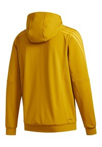 adidas Performance - AEROREADY 3-STRIPES COLD WEATHER KNIT HOODIE - Sudadera con cremallera - gold - 10