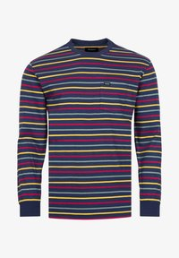 Brixton - Long sleeved top - washed navy/lava red - 4